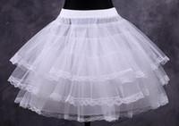 elbiseler için örtüler toptan satış-Toptan Ucuz Beyaz Kısa Balo Petticoat Elbiseler Underskirts Kabarık Etek Gelin Aksesuarları Balo Petticoats Fantezi Kadın Etek