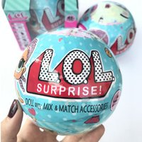 Wholesale Dress Dhl - LOL Surprise Dolls with absorb and spray water's funtion Unpacking Dolls Dress Up Toys Baby Tear Open Change Egg Dolls Spray Kids Gift DHL