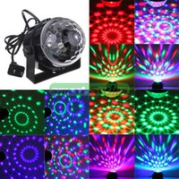 Cristal LED gros-professionnel Mini RVB Magic Ball Effet lumineux Laser Stage Lighting Lampe Ampoule Parti Disco Club DJ Light Show US Plug