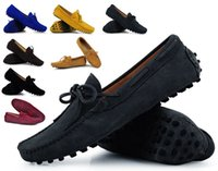 Mens Summer Echtes Leder Wildleder Breathable Mokassins Driving Schuhe Loafer Schuhe 8 Farben xx114 sapatos masculinos