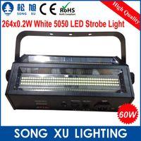 Wholesale Cheapest Led Strobe - Wholesale-4pcs lot Cheapest Free Shipping 264*0.2w 60W LED Double Head Strobe Flash Light Stage Equipment SX-SL264A