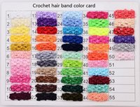 Wholesale Baby Wide Headbands - 50 COLORS! 1.5 Inch Wide baby girl Elastic Crochet Top Headband for Children Hair Band Hair accessories drop shipping 200pcs