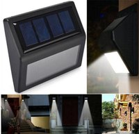 Impermeável 6 LED Solar Powered Wireless PIR Sensor de Movimento Luz Outdoor Garden Wall Lamp Solar Stair Fence Light Segurança Solar Lawn Lamp