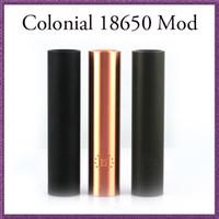Wholesale Red Colonial - Colonial mod army green black red copper mechanical 18650 mod Clone for e cigarette vs Akuma Vanilla Manhattan mod stingray mod DHL FREE