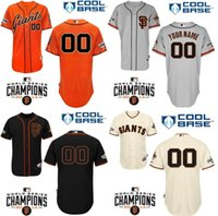 Wholesale Embroidery Factories - Factory Outlet Custom baseball jerseys San Francisco Giants mlb Personalized Cool Base Personalized Cheap Embroidery Baseball Jerseys