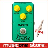 Wholesale Joyo Distortion - JOYO JF-01 Guitar Effect Pedals Green Metal Vintage Overdrive Pedals with True Bypass Tone Controls Design JRC4588 Chips In stock MU0001