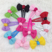 Wholesale Bobby Bow - Bobby pin with bow for girls hair clips,children hair accessories girls bobby pin with flowers 10color 20pcs lot free shipping