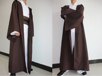 Wholesale Plus Size Halloween Cape - Wholesale-free shipping New STAR WARS JEDI  SITH Hooded Cape Cloak Halloween Cosplay Costume Robe plus size costume S-2XL