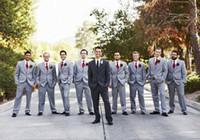 Wholesale Suit Pans - Custom Made (Jacket+Pants+Tie) Slim Fit Groom Tuxedos 2015 Best Man Tailcoat Wedding Groomsman Men Suits Pans Ties Bridegroom Suit