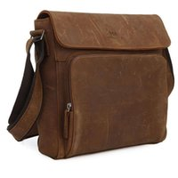Wholesale Mw Fashion - Wholesale-Maxwell High Quality JMD Vintage Style Fashion Men Crazy Horse Leather Messenger Bags Shoulder bags #MW-J7051