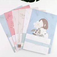 Atacado - 9pcs / Set 3 envelopes + papel de carta de 6 folhas Flores e Alice Series Envelope For Gift Korean Stationery