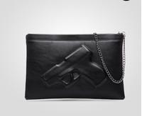 3d saca a arma venda por atacado-Top grade de Fábrica Saco de Ombro Saco de Impressão 3D Designer de Pistola Bolsa Mulheres Messenger Bags Dia Embreagens Vlieger Vandam