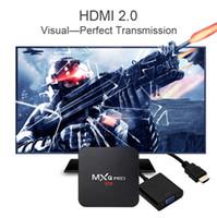 8-гигабитный медиаплеер оптовых-Фабрика MXQ PRO Android 7.1 TV Box RK3229 1GB 8GB 2.4 G WiFi поток медиа-плеер