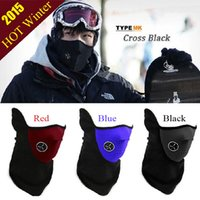 Wholesale Snowboard Scarf Mask - Outdoor Sports Motorcycle Bicycle Bike Half Face Ski Warmer Mask Winter Snowboard Windbreak Hood Thermal Balaclavas Hot Wheels Magic Scarves