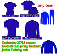 Wholesale Xs Jackets For Men - Top quality 2017 18 football jacket 17 18 club maillot de foot order link for any team Camiseta de futbol top thialand quality messi jacket