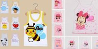 Wholesale Cute Boy Tank Top - Cute Children's Tank Tops baby girl boy cartoon summer clothing vest cheap kids summer beach clothing 90-120 colorful drop shipping