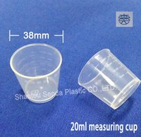 Wholesale Wholesale Medicine Cups - Free shipping 20ml transparent measuring cup pp material for medicine or powder clear measuring cup