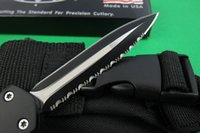 Wholesale Microtech Knives For Sale - Microtech combat Troodon A07 Black Silver Double edge Full serrated Dagger EDC pocket knife A161 A162 3350 survival gear knives for sale