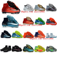 Wholesale Cheap Mens Soccer Cleats - 2018 boys soccer cleats Mercurial Superfly cr7 Ronalro FG Classic TF indoor soccer shoes mens womens kids football boots magista obra cheap