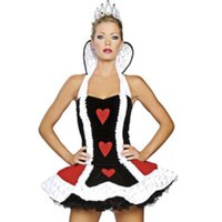 Wholesale Sexy Photos Games - The new queen of hearts sexy miniskirt sleeveless temptation nightclub cosplay anime costume dress photo