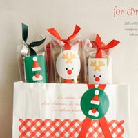 Wholesale Merry Christmas Baking - Merry Christmas Adhesive Labels Cookie Gift Packaging Cake Decoration Stickers Paper Tag For Cookie Bakery Christmas Packaging