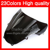 Wholesale motorcycle colours - 23Colors Motorcycle Windscreen For SUZUKI GSXR1000 00 01 02 K1 GSXR 1000 GSX R1000 K2 2000 2001 2002 Chrome Black Clear Smoke Windshield