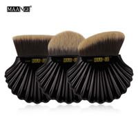 cosméticos maange al por mayor-Maange Profesional 3 unids Shell Maquillaje Pinceles Set Base Corrector Eyeshadow Powder Blush Contour Cosmética Herramientas de Belleza