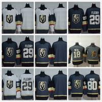 Wholesale white men s linen shorts - 2017-2018 New Season LAS Vegas Golden Knights #29 Marc-Andre Fleury #80 Wong Black 100th  Army Green Embroidered New Logo Hockey Jerseys