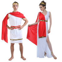 Wholesale Halloween Greek Goddess - New Greek Greece Roman Goddess Costume Children Adult Halloween Fancy Dress