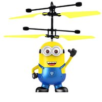 Wholesale Free Rc Helicopters - Cartoon Air RC Flying Helicopter flying ball Captain America hero Kids Teenagers Flying toys DHL free