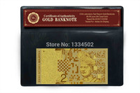 Wholesale Engraved Exquisite Bank Note K Gold Foil Plated Malaysia Ringgit Gold Banknote Gift For Business And Collection