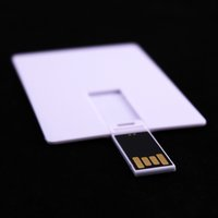 Wholesale Plastic Card Printing - 100 PCS 8GB Card USB Memory Flash Pendrive Stick Factory Outlets Good Quality Suitable for Color Logo Print White
