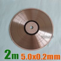 Wholesale Tab 2m - 2 Meters   Lot 5.0x0.2mm solar bus bar wire for PV Ribbon Tabbing wire 2m tab wire TUV approved