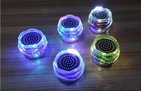 Wholesale Fl Led - Bluetooth Speakers FL-01 LED Subwoofers Mini Wireless Portables Colorful Speaker Lotus flower HI-FI Music Player Audio With TF Card FM
