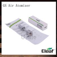 eleaf gs air double atomiseur achat en gros de-Ismoka Eleaf GS Atomiseur à air 1,5 ml Clearomizer réglable pour flux d'air à double enroulement GS-Air Fit pour Eleaf iStick 20W Mods 100% d'origine