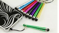 Wholesale Nice Screen - Nice Stylus Pen Baseball Bat Design Capacitive Screen Touch Pen with Anti-dust Plug For Capacitance Screen Phone for iPhone 6 10 colors