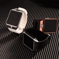 Wholesale Iphone Watches For Men - Smart Watch DZ09 Smartwatch Digital Sport Phone Wrist Watch For Apple iPhone Android Men Women Electronics Wristwatch SIM Card
