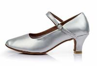 Wholesale Modern White Heels - Fashion Adult Women Girls Modern Ballroom Latin Tango Dance Shoes Heeled