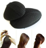 Wholesale Wholesale Hair Styling Devices - hair puff Magic Hairdressing Tool Princess Style Beauty care Hair Heighten Device Bulkness Sponge Hair Maker Pad black 2pcs lot HQS-G10264