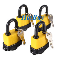 Deadbolts outdoor padlock - 40mm Heavy Duty Outdoor Waterproof Security Padlocks Keyed Alike Waterproof Gate Door Padlock