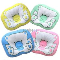 Wholesale Infant Pillows Wholesale - Hot Selling! Bear Pattern Pillow Newborn Infant Baby Support Cushion Pad Prevent Flat Head Free Shipping