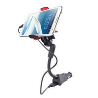 carro p7 venda por atacado-Titular carregador de carro preto universal para p7 iphone galaxy nexus gps pda suporte suporte de montagem micro usb carregador