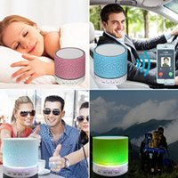 Wholesale Mp4 Free Music - 2018 A9 Mini Bluetooth car Speaker LED Hands Free TF Card USB Super Bass Loudspeaker car audio Portable Stereo MP3 Music Player