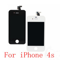Wholesale Digitizer For 4s 4gs - Wholesale-For iPhone 4S 4GS LCD DisplayTouch Screen digitizer + Bezel Frame Assembly Replacement Black   White Free shipping