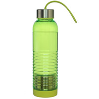 Wholesale Green Tea Portable Cups - Classic green 600 ml water bottle brief space cup high quality PP portable sport bottle birthday gift Free shipping