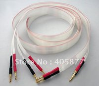 Pair High End Nordost ARGENTO PURO Red Dawn Audiophile Teflon Banana Speaker Cable