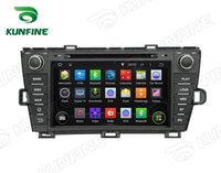 Wholesale Prius Navigation - Quad Core 1024*600 Screen Android 5.1 Car DVD GPS Navigation Player for Toyota Prius 09-13 Left driving Radio Wifi steering wheel control