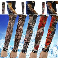 Wholesale-Sommer-Art Temporary Fake-Slip On Tattoo Sleeves Arm Kit Colle Fake Tattoo Calor Zufall HB-0206-Zufalls