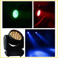 ingrosso zoom luci dhl-DHL libera il trasporto 2PCS ha condotto la luce della fase della luce di zoom Osram RGBW 19PCS * 12W luci commoventi della testa