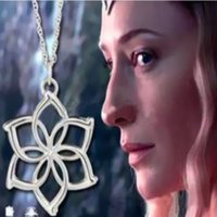 Wholesale Necklace Chain Types Wholesale - Promotion The Hobbit Galadriel Flower pendant Necklaces alloy plant type charm link chain necklace women Christmas gift movie jewelry 160514